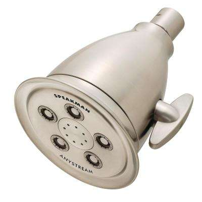 Hotel Anystream 3-Spray 4.13 in. Fixed Shower Head in Brushed Nickel