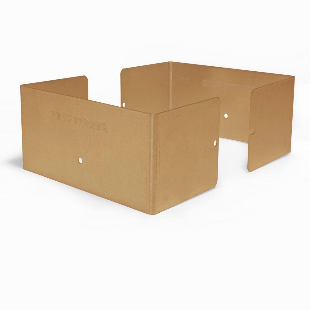 6 in. L x 6 in. W x 1/4 ft. H Clay Fence Post Guard for Wood or Vinyl