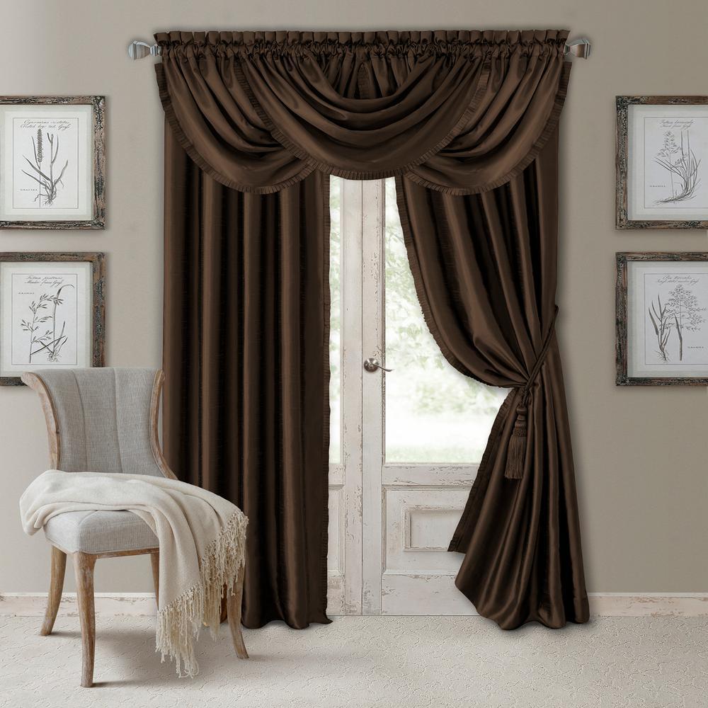 Versailles Faux Silk Blackout Window Curtain