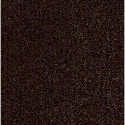 Dark Brown Single Rib 18 in. x 18 in. Carpet Tile (12 Tiles/Case)