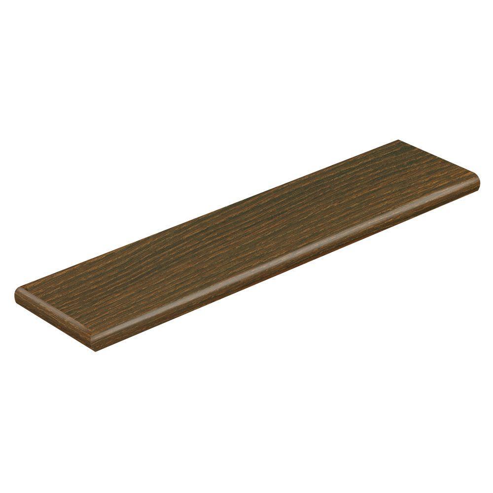 Bronze Oak/Farmington Oak 47 in. L x 12-1/8 in. D x 1-11/16 in. H Laminate Left Return to Cover Stairs 1 in. Thick