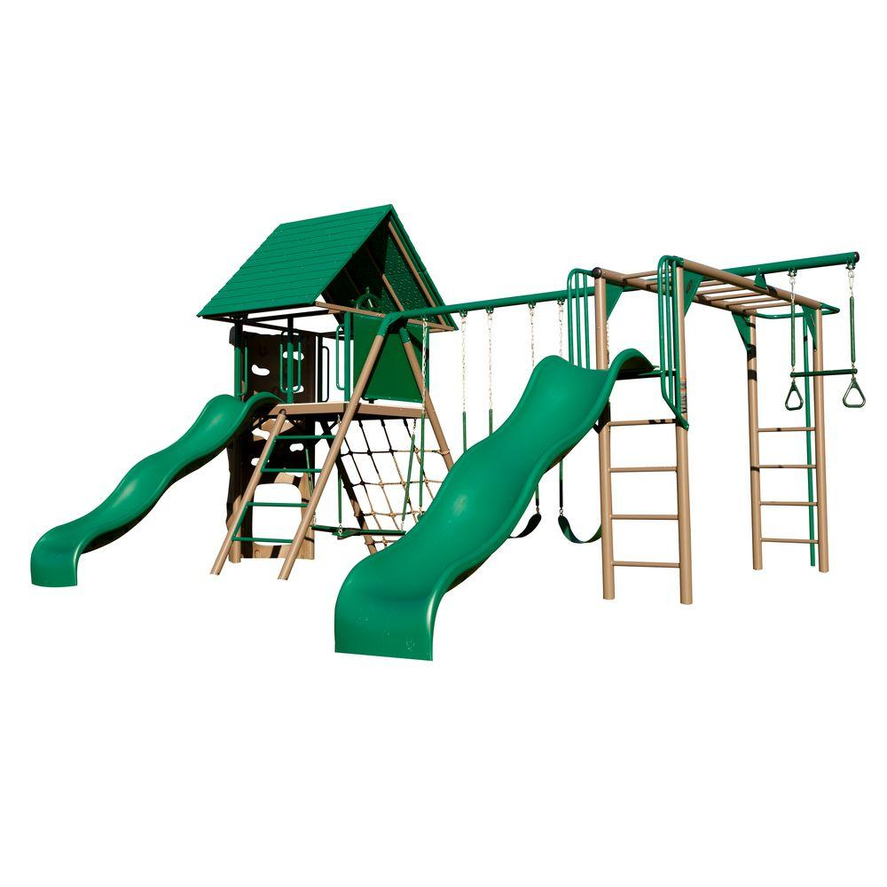 lifetime double slide deluxe playset 90240 the home depot