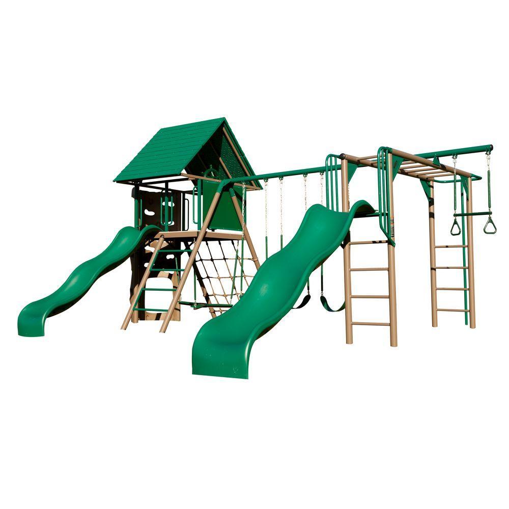 Double Slide Deluxe Swing Set