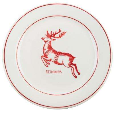 Molly Hatch 8.5 in. D Reindeer Salad Plate