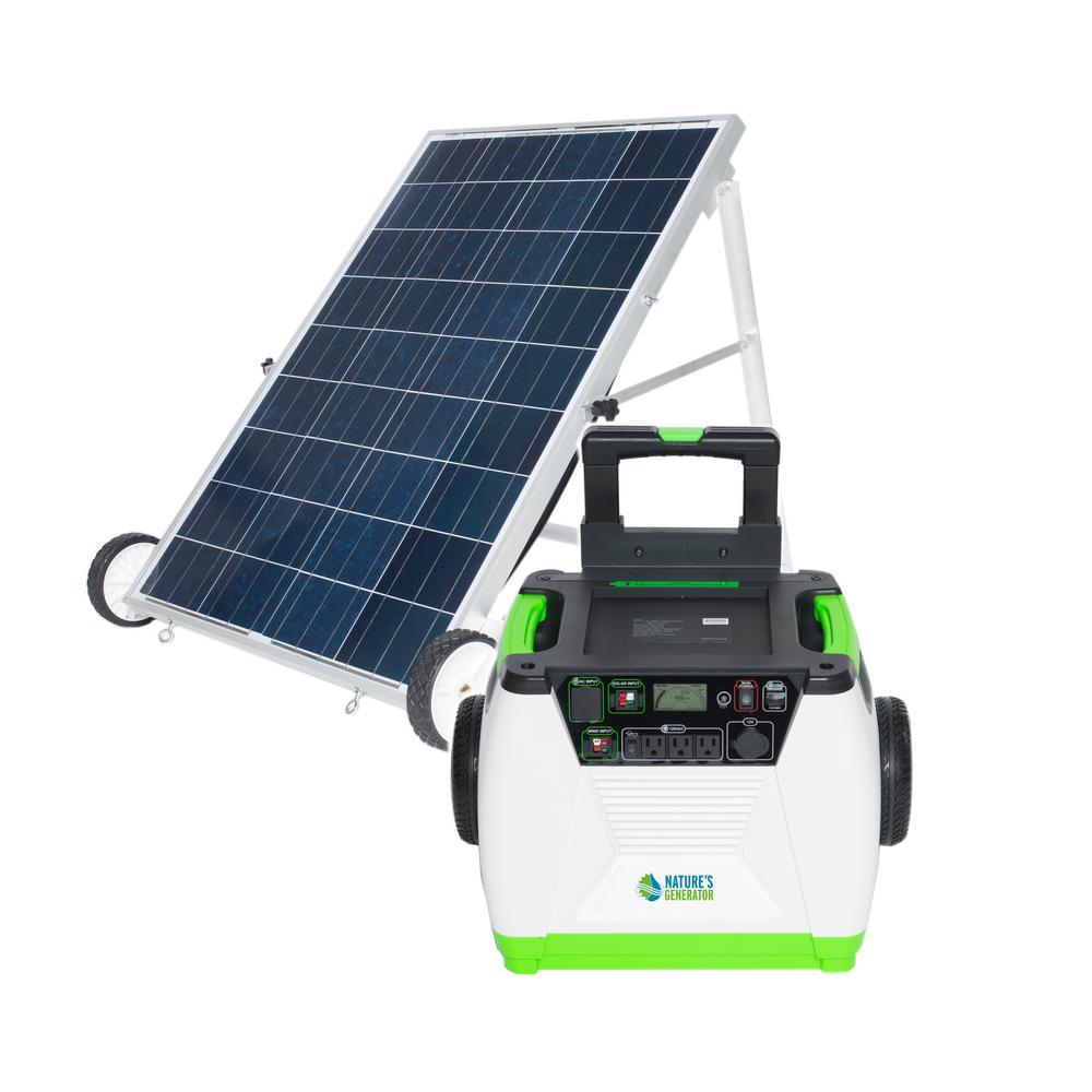 Home Depot Solar Light Batteries Part - 31: Null 1800-Watt Solar Powered Portable Generator With Electric Start