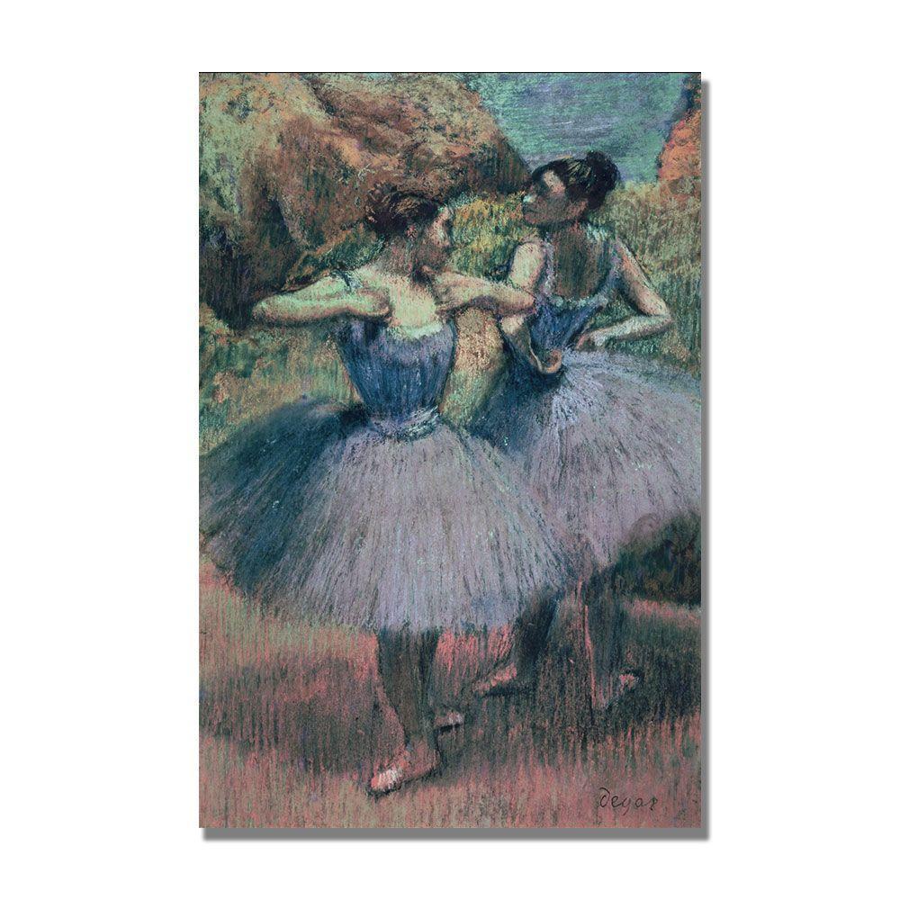 22 in. x 32 in. Dancers in Violet Canvas Art