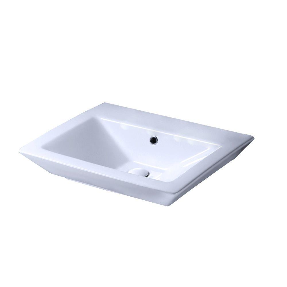 Aristocrat 18-1/2 in. Pedestal Sink Basin in White