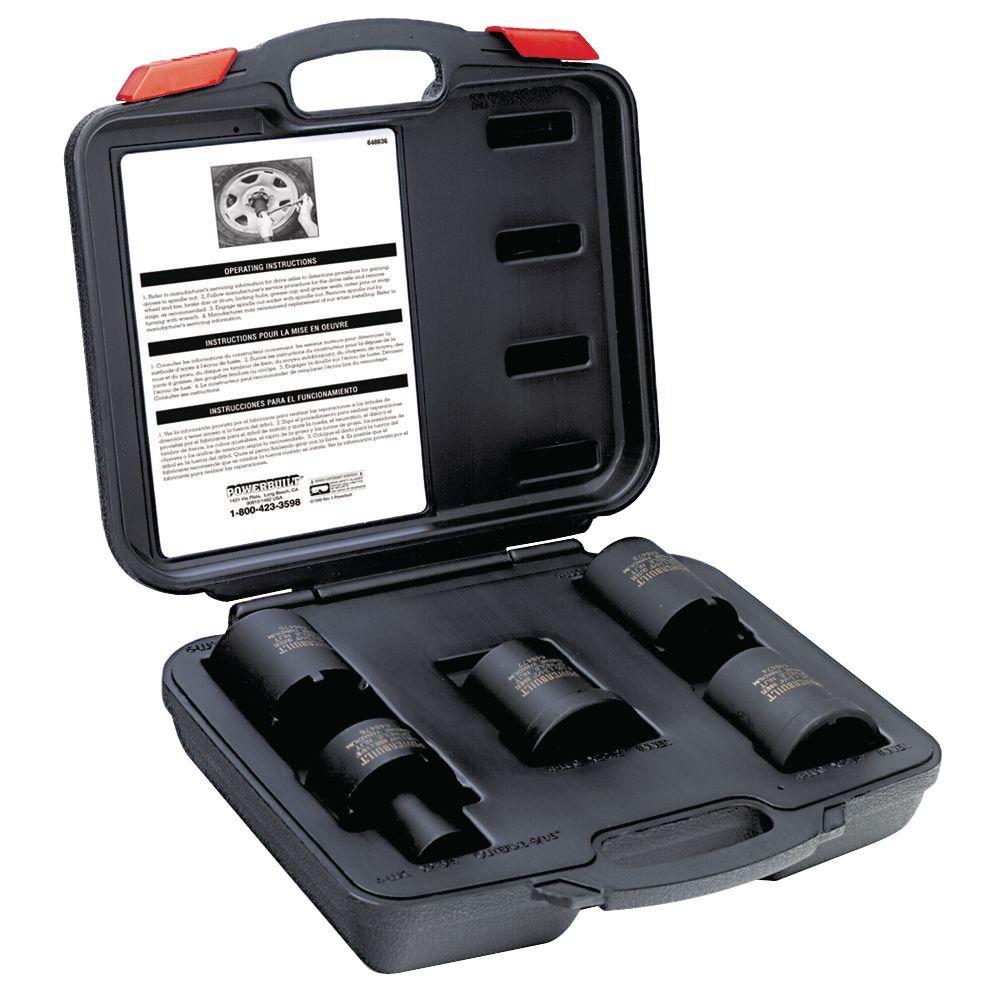 Powerbuilt Axle Nut Socket Kit-648635 - The Home Depot
