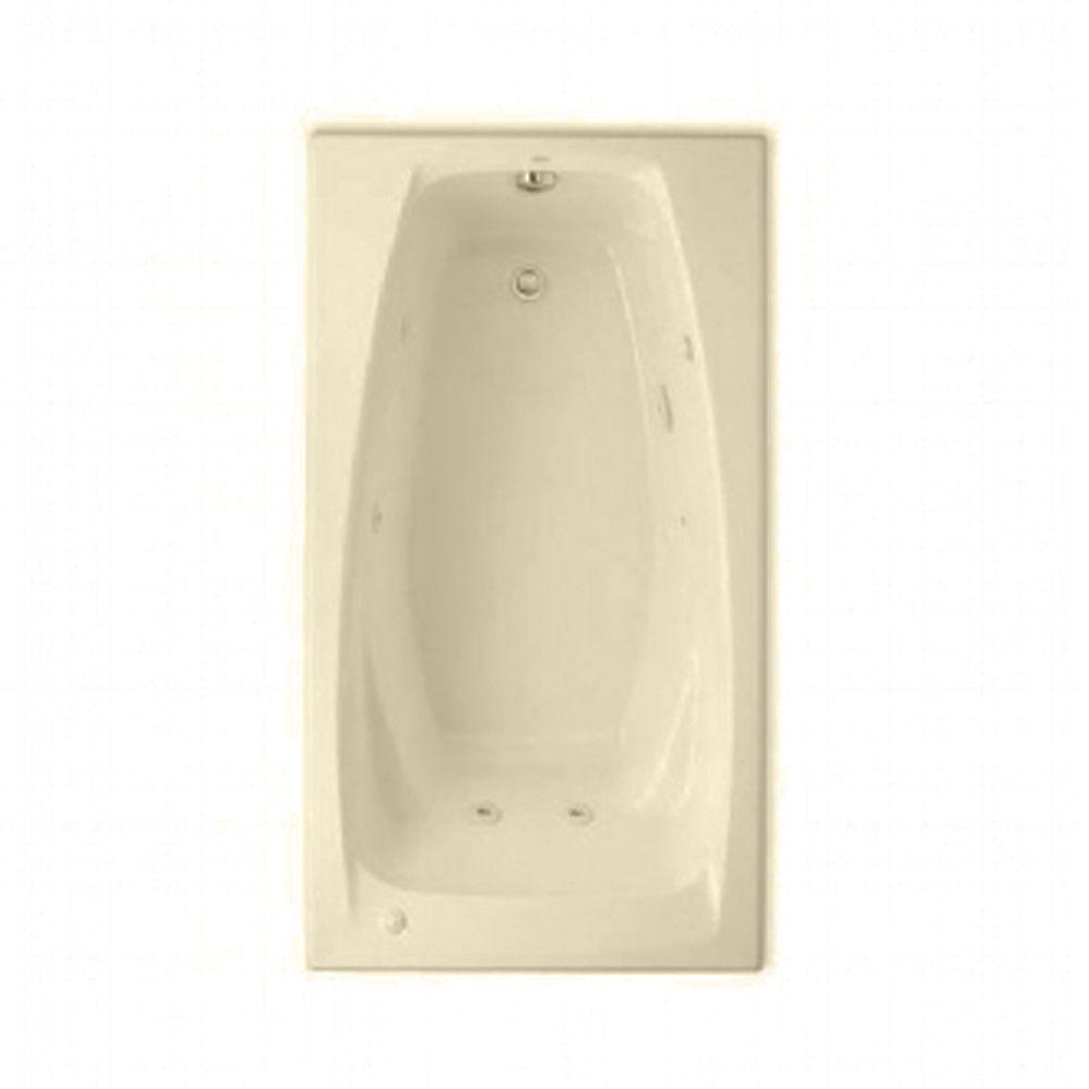 American Standard Everclean 5 ft. Whirlpool Tub in Bone