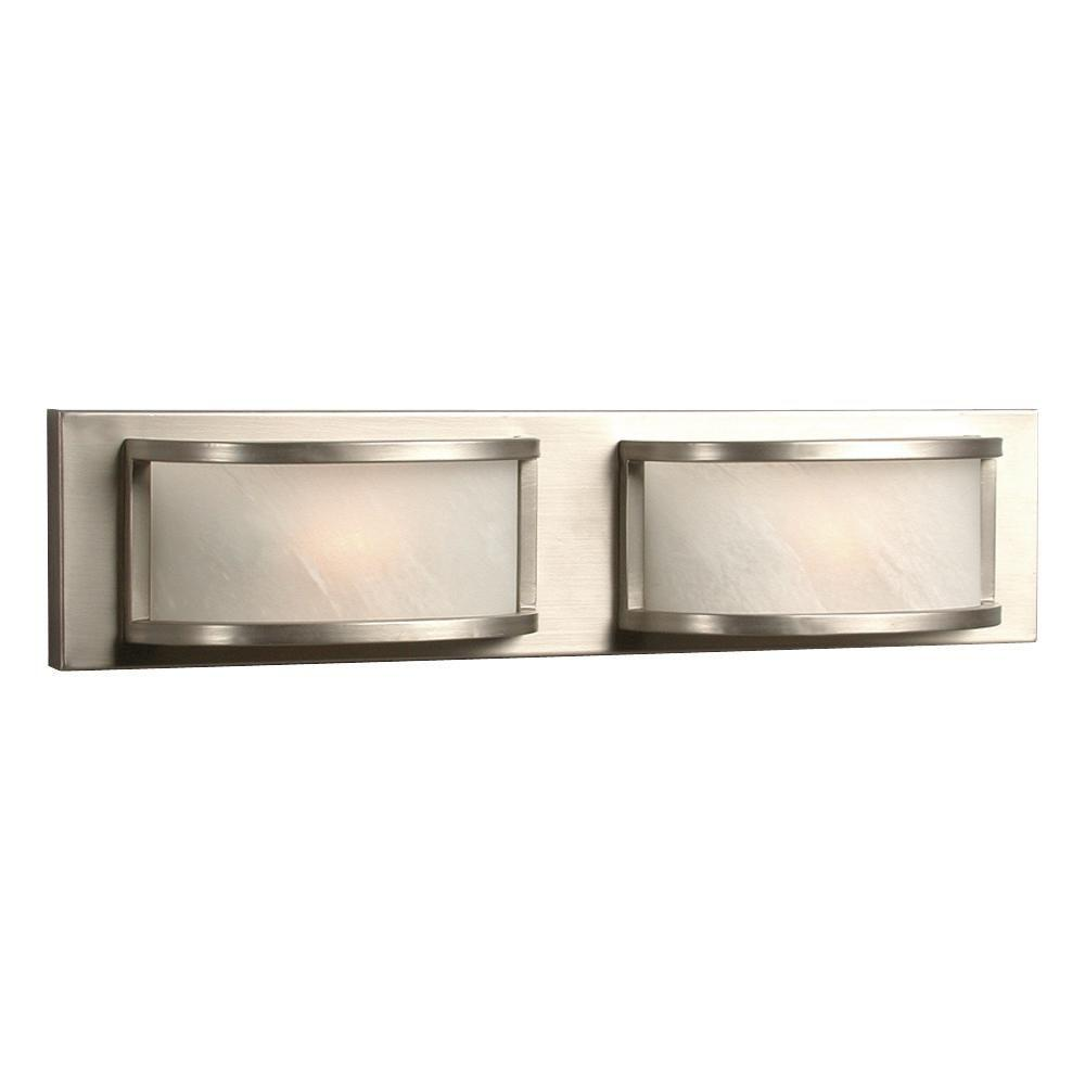 Bathroom Vanity Halogen Lights : Filament Design Negron 2-Light Pewter Halogen Bath Vanity Light-CLI-XY5176166 - The Home Depot