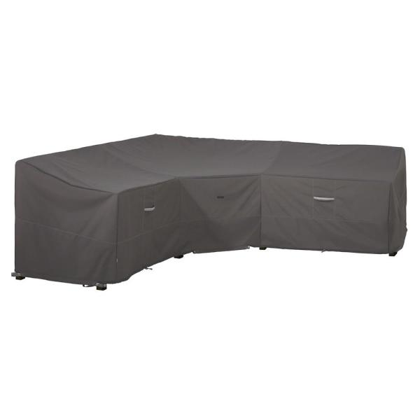 Ravenna 100 in. L x 33.5 in. D x 31 in. H V-Shape Sectional Lounge Set Cover