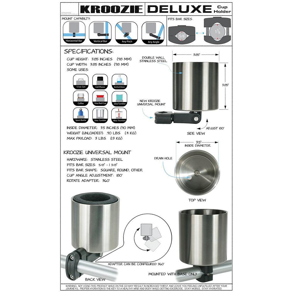 Kroozie Kroozercups Deluxe 2.0 Bicycle Cup Holder