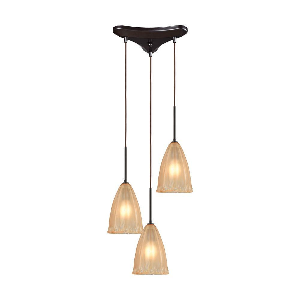 Titan Lighting Calipsa 3-Light Oil Rubbed Bronze Pendant