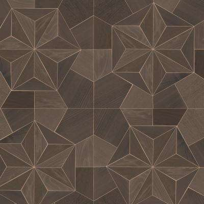 Shades of Brown and Bronze Inlay Wood Wallpaper