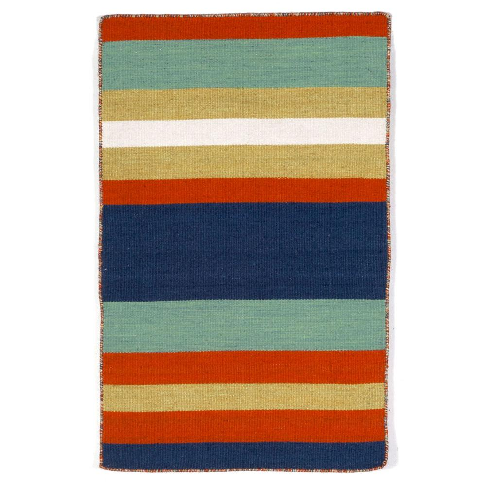 Bright Outdoor Area Rugs: Tasso Bright Stripe Navy 2 Ft. X 3 Ft. Rectangle Indoor