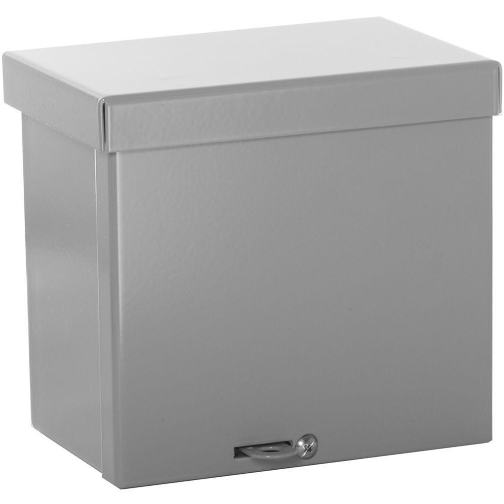 NEMA 3R 6x6x4 Weatherproof Screw Cover Wall-Mount Carbon Steel
