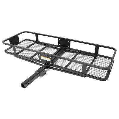 Hitch Mount 60 in. x 21 in. Folding Cargo Carrier with High Side Rails