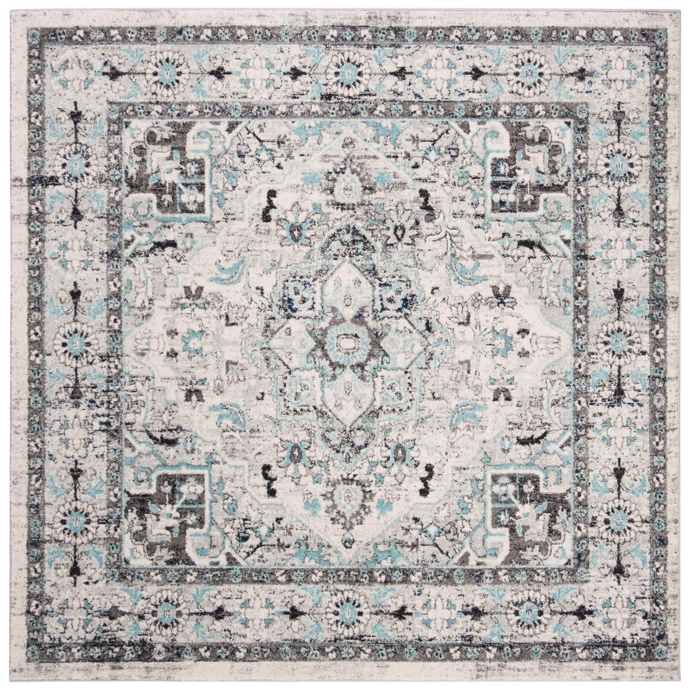 Safavieh Madison Light Gray/Blue 6 ft. 7 in. x 6 ft. 7 in. Square Area Rug