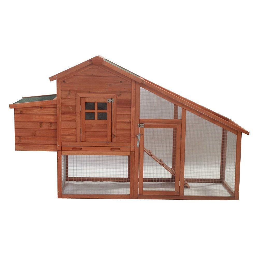 ALEKO Wooden Chicken Coop-ACCRH75X26X46-HD