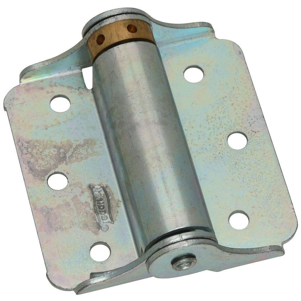 3 in. Zinc-Plated Adjustable Spring Hinge