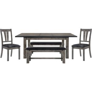 Pleasant Drexel 5 Piece Weathered Gray Dining Set Table 2 Side Onthecornerstone Fun Painted Chair Ideas Images Onthecornerstoneorg