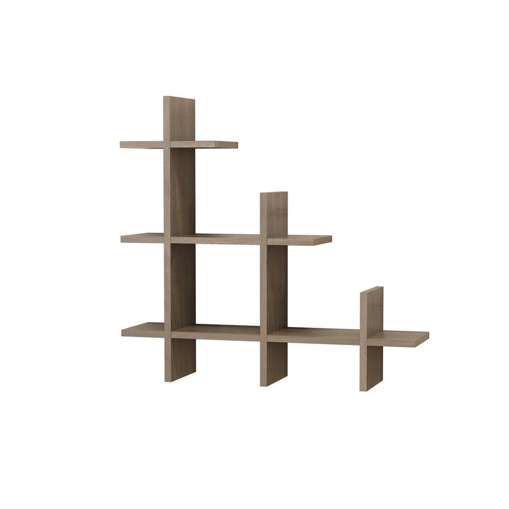 Wilmot Walnut Modern Wall Shelf