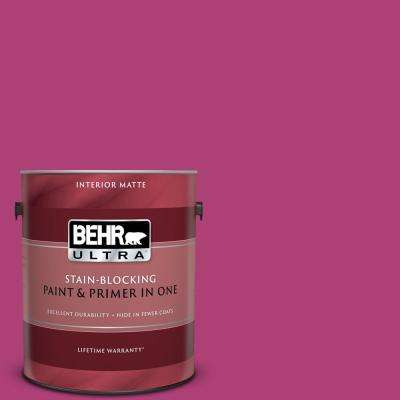 1 gal. #100B-7 Hot Pink Matte Interior Paint and Primer in One