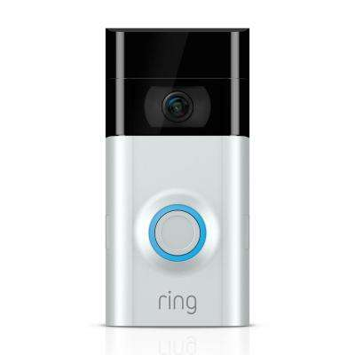 1080P HD Wi-Fi Wired and Wireless Video Door Bell 2, Smart Home Camera, Removable Battery, Works with Alexa