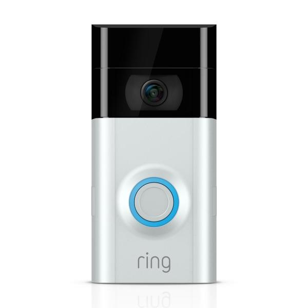 Ring 1080P HD Wi-Fi Wired and Wireless Video Door Bell 2, Smart Home Camera, Removable Battery, Works with Alexa