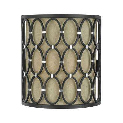 8219 2-Light Bronze Wall Sconce