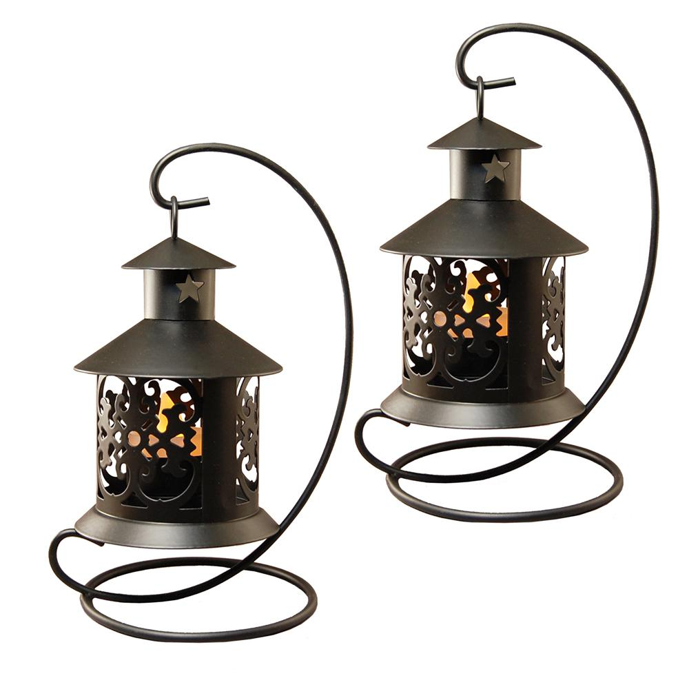 7 in. Hanging Metal Lantern (2-Count)