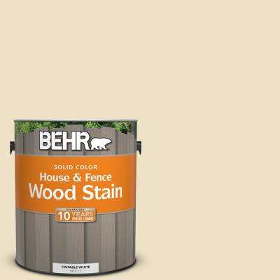 1 gal. #370E-2 Cream Silk Solid Color House and Fence Exterior Wood Stain