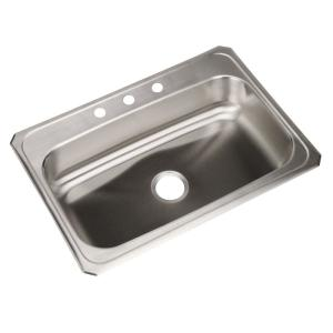 Elkay Celebrity Drop In Stainless Steel 31 In. 3 Hole Single Bowl Kitchen  Sink CR31223   The Home Depot