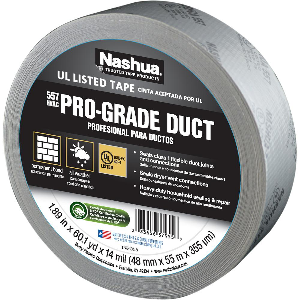 Nashua Tape 1.89 in. x 60 yd. 557 Pro-Grade UL Listed Duct Tape