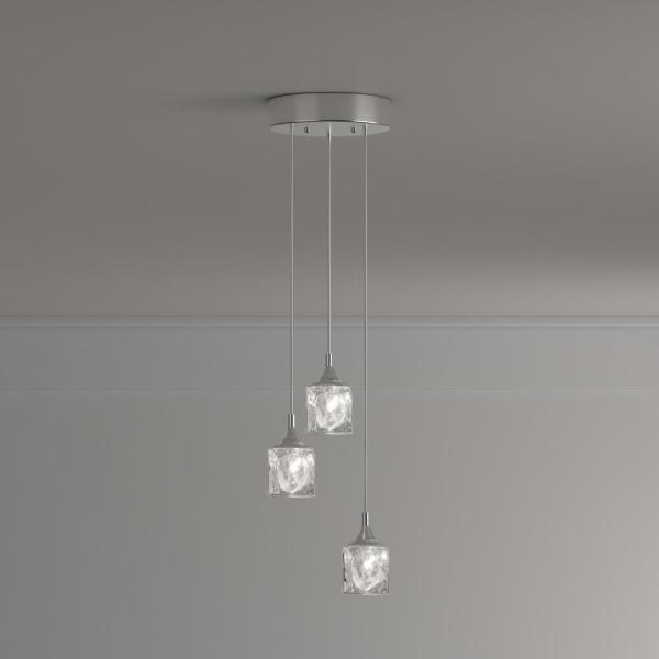 Home Decorators Collection 3-Light Polished Chrome Integrated LED Pendant  with Clear Cube Glass-3-6621-NDM - The Home DepotThe Home Depot