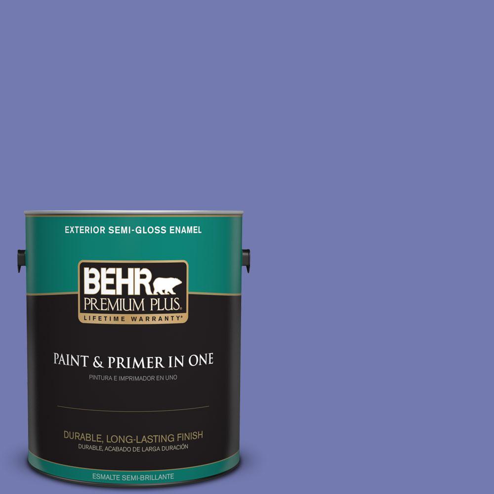 1-gal. #620B-6 Magic Moment Semi-Gloss Enamel Exterior Paint