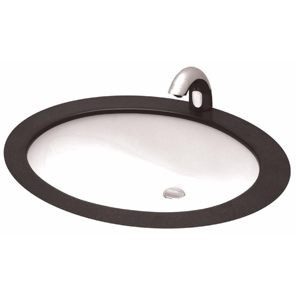 Oval Undermount Bathroom Sink In Cotton White Lt569#01   The Home Depot