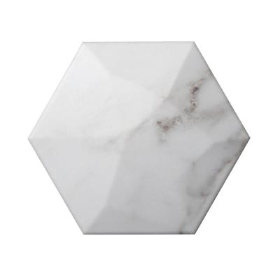 Code Calacata Hexagon High 5.91 in. x 6.90 in. Ceramic Wall Tile (4.16 sq. ft. / case)