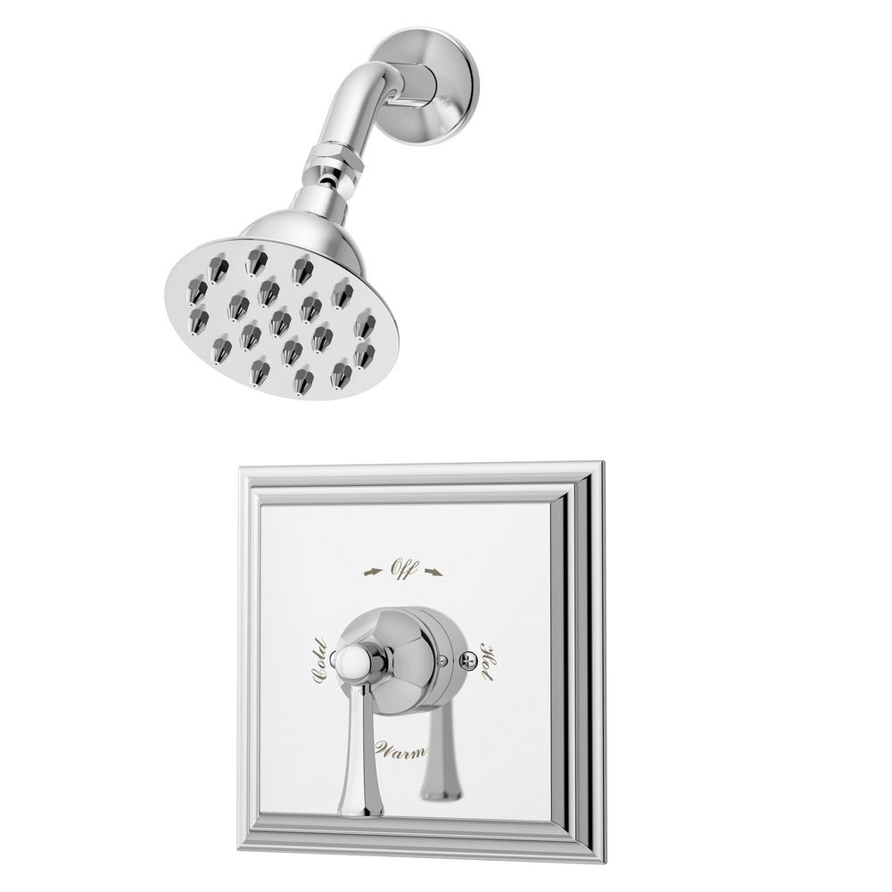 Canterbury Single-Handle Shower Valve Trim in Chrome (Valve Not Included)