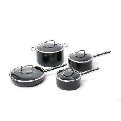 Earthchef Boreal 8-Piece Aluminum Cookware Set with Lids