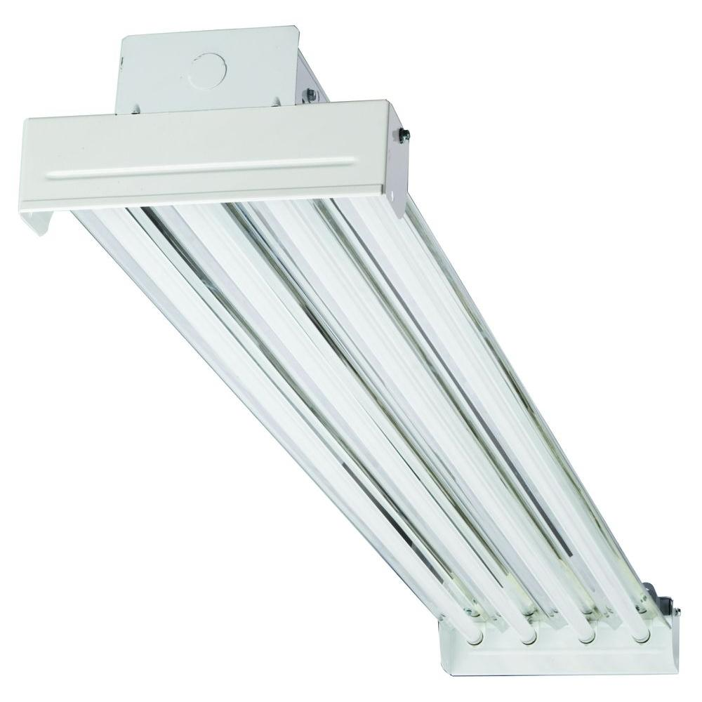4 Bulb Lamp T8 Led High Bay Warehouse Shop Garage: Lithonia Lighting IBC 454 MV 4-Light T5 White High Output