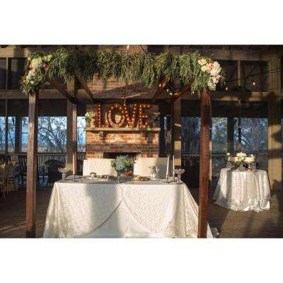 Indoor and Outdoor 2 ft. Rusted Steel LOVE Letters Plug-in Marquee Light Lighted Sign