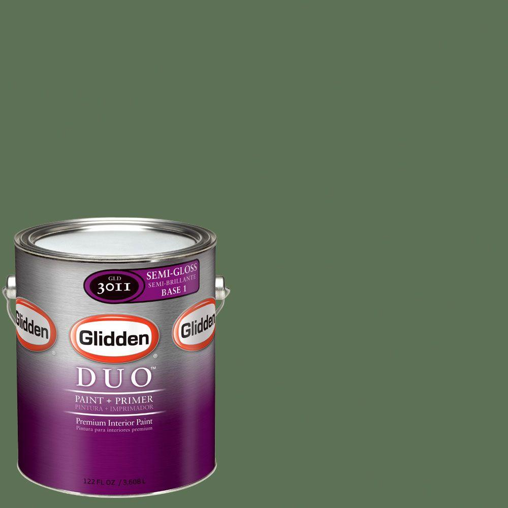 Glidden DUO Martha Stewart Living 1-gal. #MSL110-01S Saguaro Semi-Gloss Interior Paint with Primer-DISCONTINUED