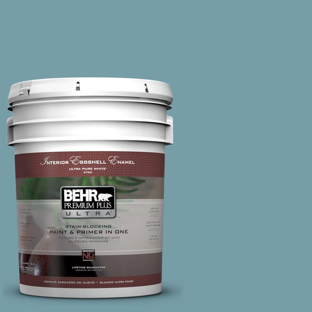 BEHR Premium Plus Ultra 5 gal. #PPU13-7 Voyage Eggshell Enamel Interior Paint and Primer in One