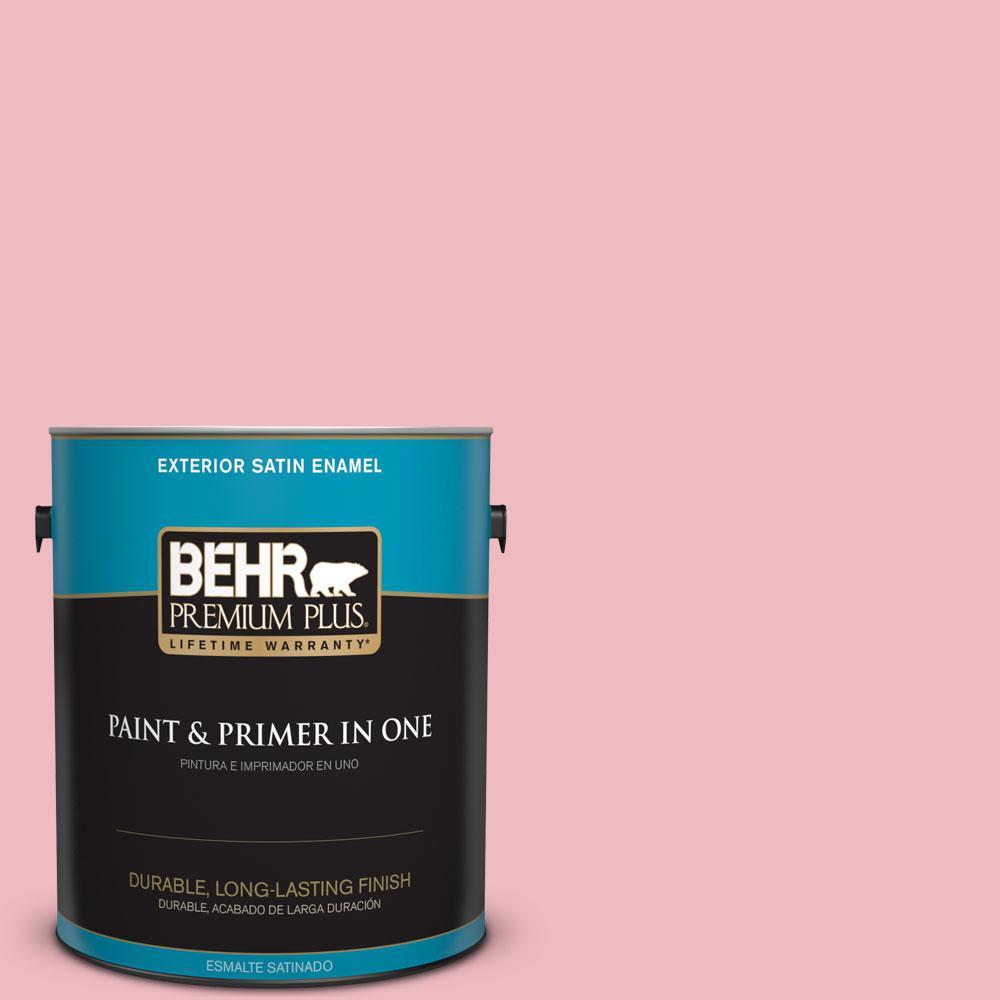 1-gal. #P160-2 Blush Rush Satin Enamel Exterior Paint