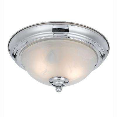 Berlin 2-Light Chrome plated Flush Mount