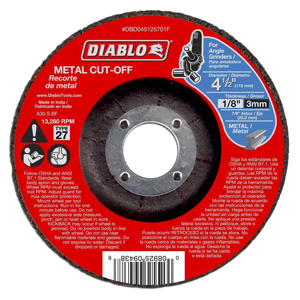 4-1/2 in. x 1/8 in. x 7/8 in. Metal Cut-Off Disc