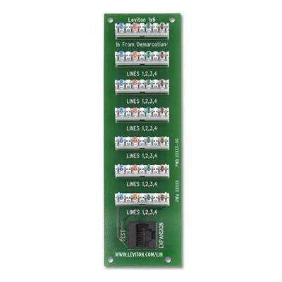 1x6 Bridged Telephone Board for Compact Structured Media Enclosure