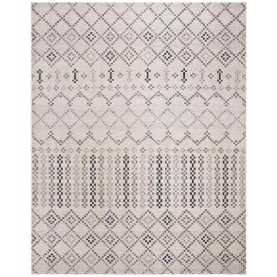 Montage Gray/Charcoal 9 ft. x 12 ft. Indoor/Outdoor Area Rug