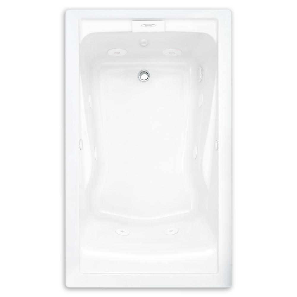 EverClean 60 in. x 32 in. Reversible Drain Whirlpool Tub in